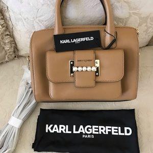 Karl Lagerfeld Paris Handbag Satchel NEW